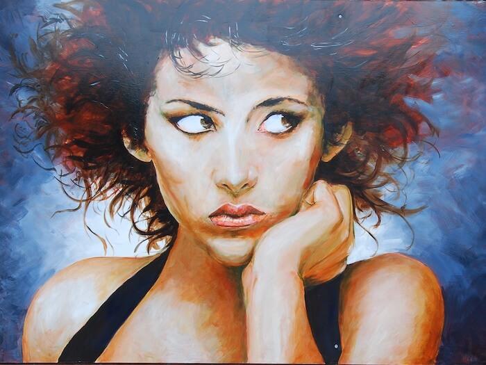 Portret gemaakt door Jeroen Bijl panelen route Ommen