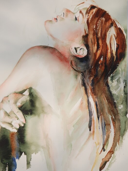 Portret geschildert door Jeroen (aquarel)
