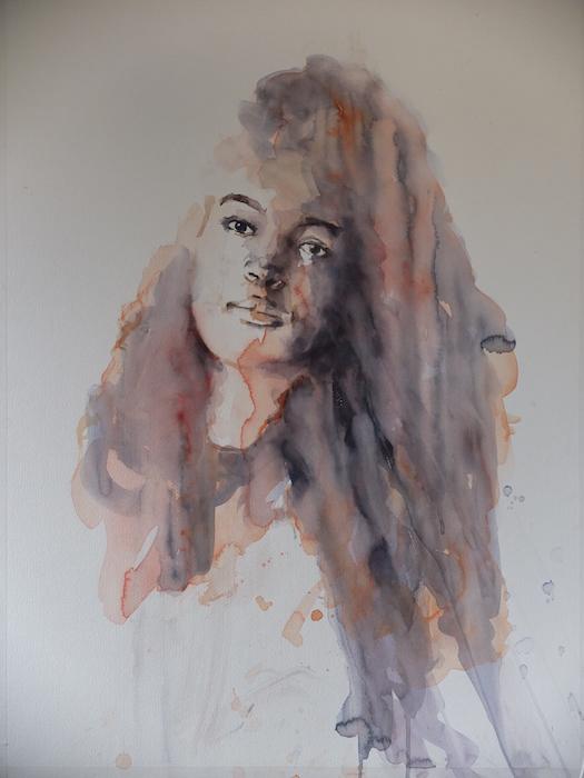 Portret in aquarel